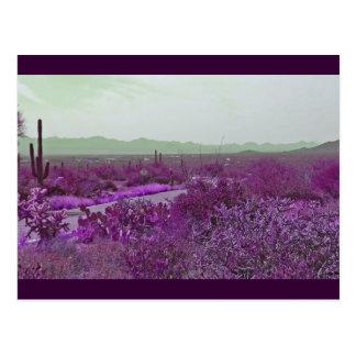 violet highway postcard