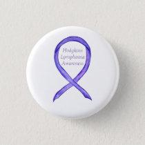 Violet Hodgkins Lymphoma Awareness Ribbon Button