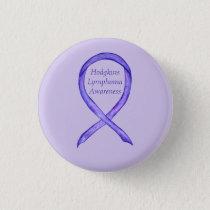 Violet Hodgkins Lymphoma Awareness Ribbon Buttons