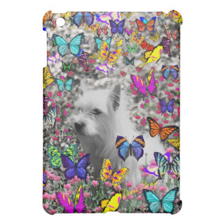 Violet in Butterflies – White Westie Dog iPad Mini Covers