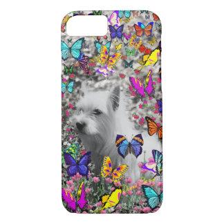 Violet in Butterflies – White Westie Dog iPhone 8/7 Case