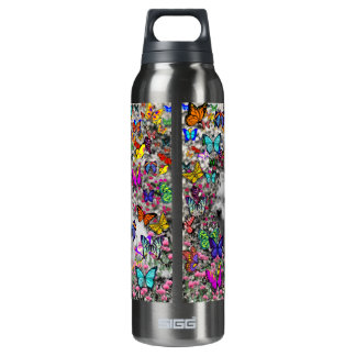 Violet in Butterflies – White Westie Dog 16 Oz Insulated SIGG Thermos Water Bottle