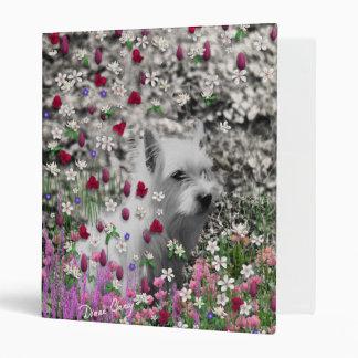 Violet in Flowers – White Westie Dog Binder