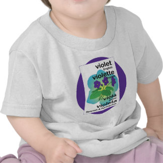 Violet in Many Languages T Shirts