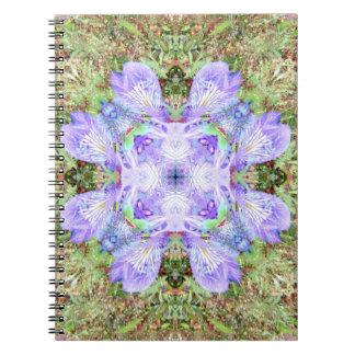 Violet Iris Mandala Notebook