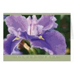 Violet Iris Note Card