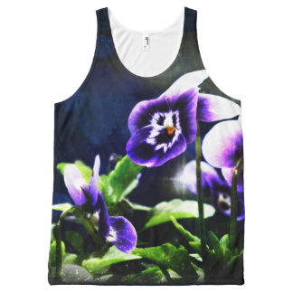 Violet Johnny Jump-Ups All Over Print Tank Top All-Over Print Tank Top
