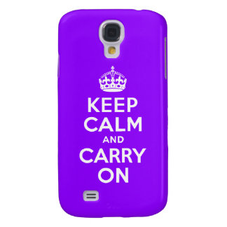 Violet Keep Calm and Carry On Case-Mate Case