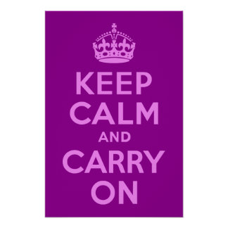 Violet Keep Calm and Carry On Print
