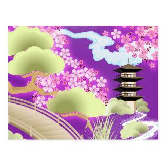 Violet Kimono Postcard