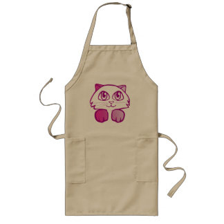 Violet kitten long apron