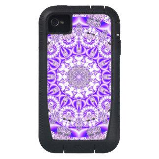 Violet Lace Mandala, Abstract Violet Purple iPhone4 Case