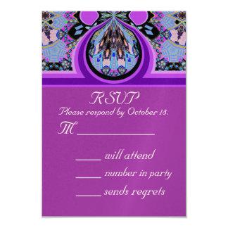 Violet Lavender RSVP Party Invitation Reply Card