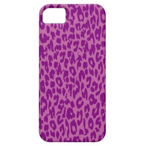 Violet Leopard Print Skin Fur iPhone 5 Cases
