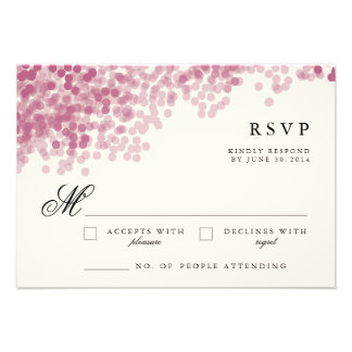 Violet Light Shower | Pretty RSVP Response Cards