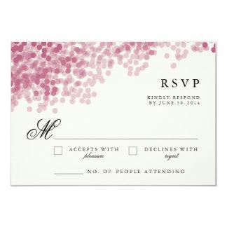 Violet Light Shower | Pretty RSVP Response Cards Personalized Invite