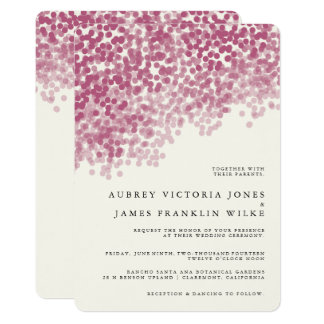 Violet Light Shower   Rustic Wedding Invitations