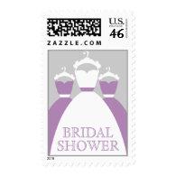 Violet Lilac Purple Bridal Shower Postage