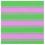 [ Thumbnail: Violet & Lime Green Colored Striped/Lined Pattern Fabric ]