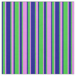 [ Thumbnail: Violet, Lime Green & Dark Blue Colored Lines Fabric ]