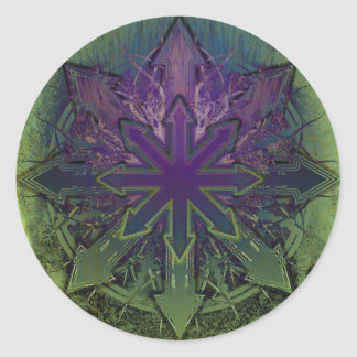 Violet Lotus Chaos Classic Round Sticker
