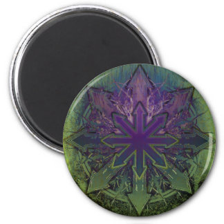 Violet Lotus Chaos 2 Inch Round Magnet