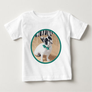 Violet Loves You! French Bulldog Art for Rescue! Baby T-Shirt