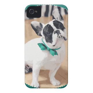 Violet Loves You! French Bulldog Art for Rescue! iPhone 4 Case