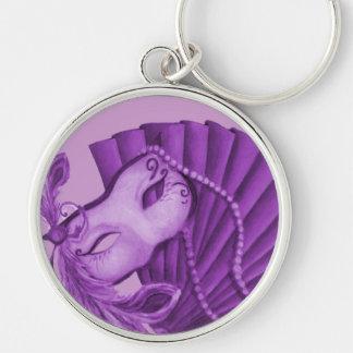 Violet Masquerade Keychain