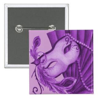 Violet Masquerade Pinback Button