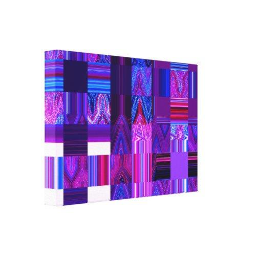 Violet Mélange deep pink Wrapped Canvas - Plaid purple wall decor