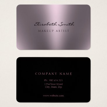 Professional Business Violet Metallic Look Double Sided Business Card