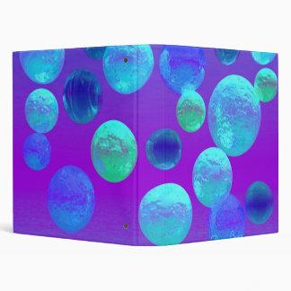 Violet Mist - Cyan and Purple Abstract Light Vinyl Binders