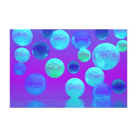 Violet Mist - Cyan and Purple Abstract Light Canvas Print