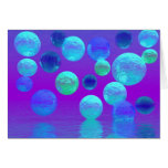 Violet Mist - Cyan and Purple Abstract Light Card