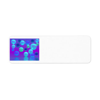 Violet Mist - Cyan and Purple Abstract Light Label