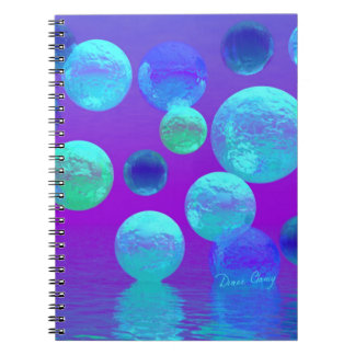 Violet Mist - Cyan and Purple Abstract Light Notebook