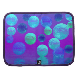 Violet Mist - Cyan and Purple Abstract Light Organizer
