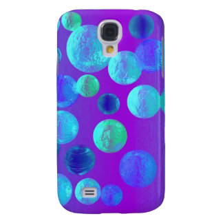 Violet Mist - Cyan and Purple Abstract Light Samsung Galaxy S4 Cover