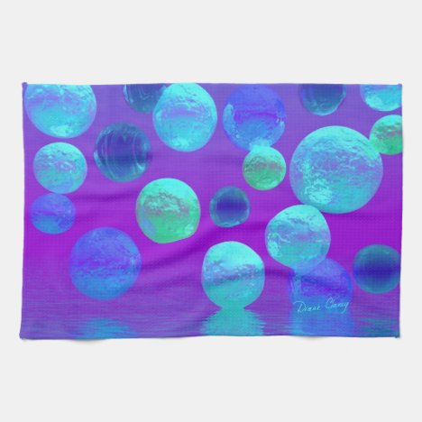 Violet Mist - Cyan and Purple Abstract Light Towel