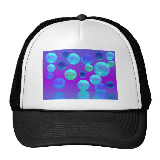 Violet Mist - Cyan and Purple Abstract Light Trucker Hat