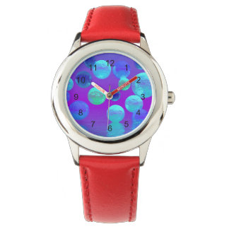 Violet Mist, Cyan and Purple Abstract Light Watch