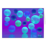 Violet Mist - Cyan and Purple Light Greeting Card