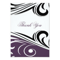 violet mod Thank You Card