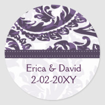 violet Monogram label