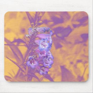 Violet Mood Floral Mouse Pad