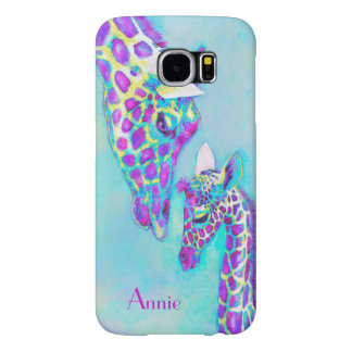 violet mother and bay giraffe phone case