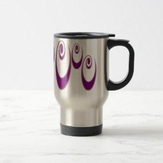 Violet Neauvou Spirals 15 Oz Stainless Steel Travel Mug