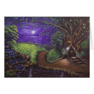 Violet Night Greeting Card 2