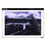 """Violet Night with Snow 17"""" Laptop Skins"""